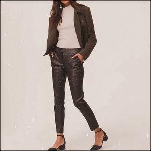 Ann Taylor Loft Geo Shimmer Marisa Skinny Ankle